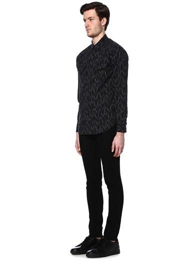Desenli Uzun Kollu Gömlek-Saint Laurent